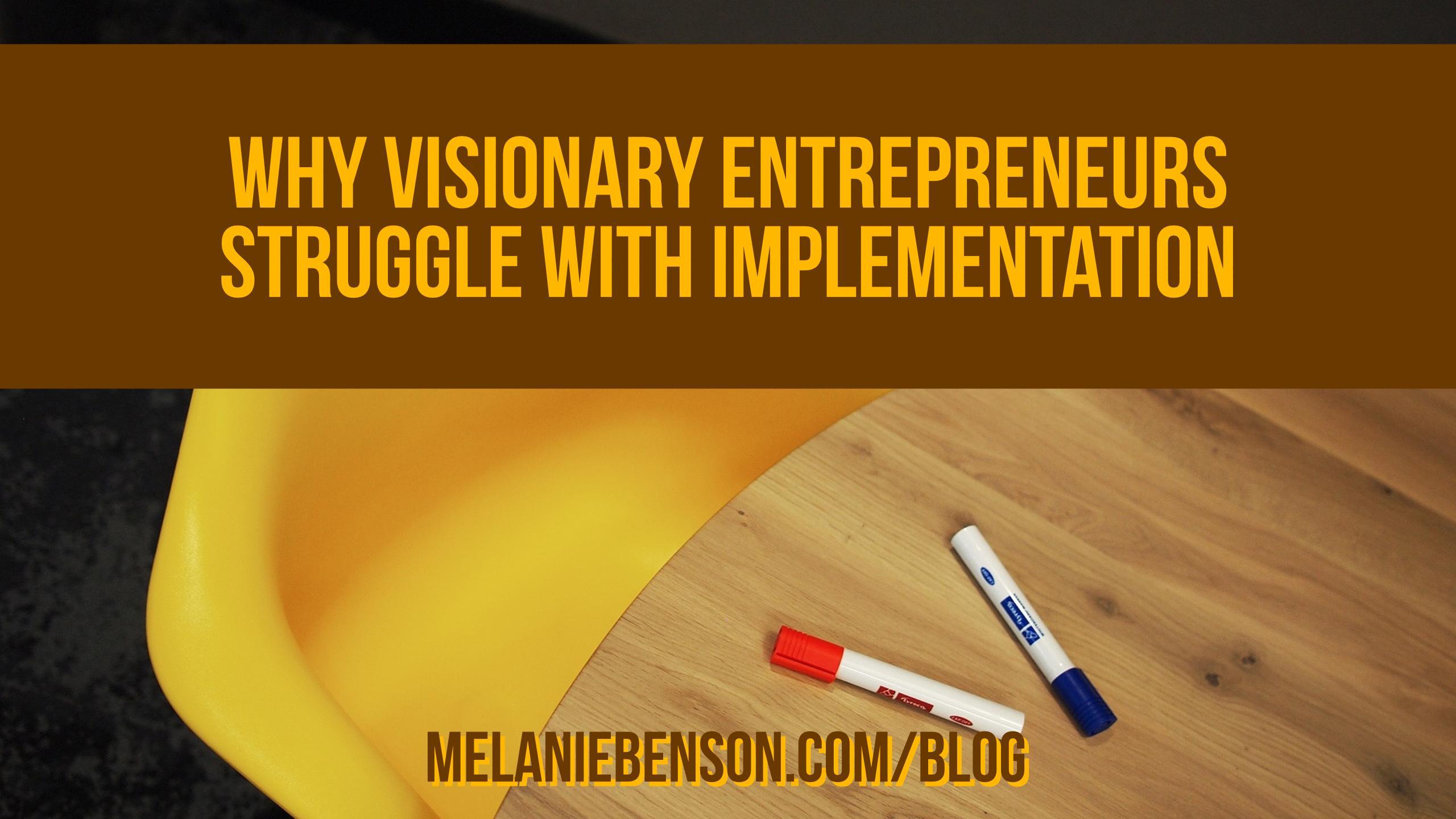 Visionary Entrepreneur Implementation