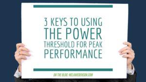 Power Threshold for Peak Performance
