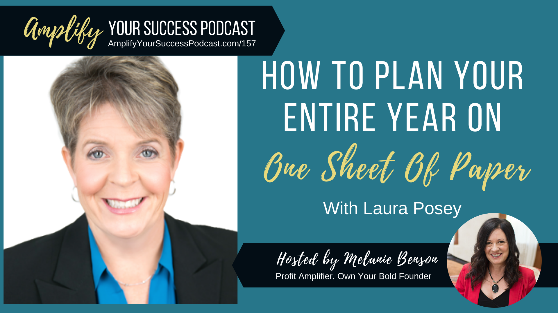 How To Business Plan Your Entire Year On One Sheet Of Paper with Laura Posey