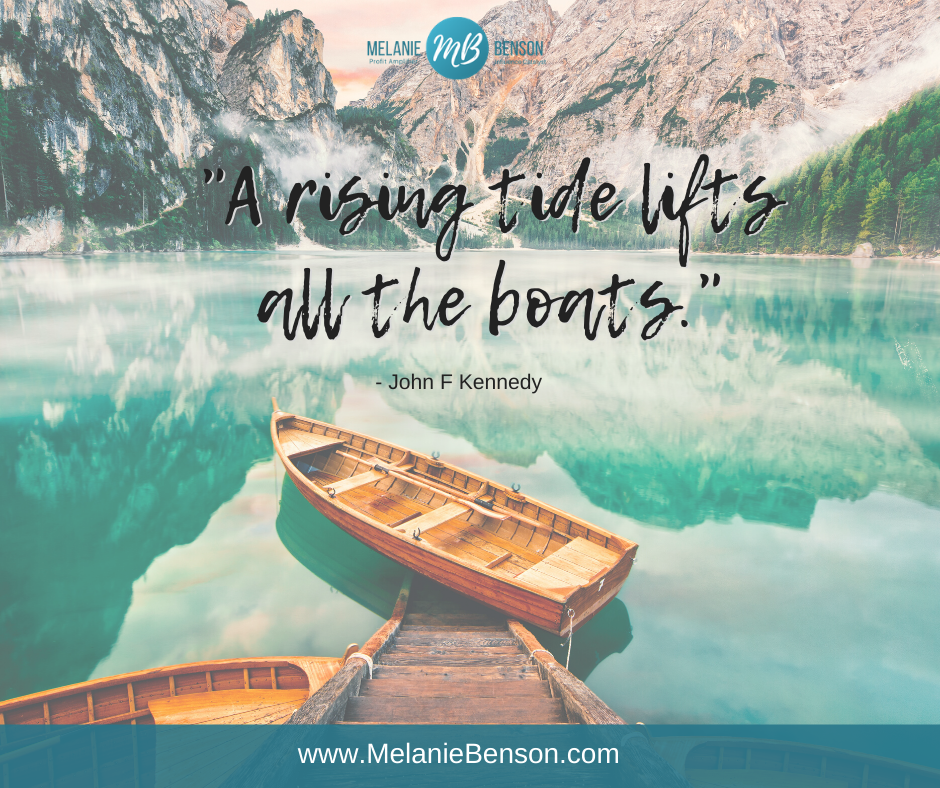 Rising Tide Lifts All The Boats John F Kennedy quote